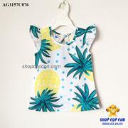 Áo kiểu hình trái thơm vàng size 1-8 - AG1157C076