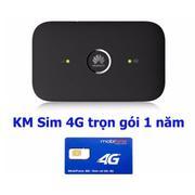 Combo Bộ phát wifi 4G Huawei E5573 + sim 4G Mobifone miễn phí 1 năm(Đen)