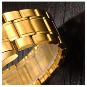 Đồng hồ nam dây kim loại cao cấp thương hiệu Bosck Japan B5688(VÀNG)