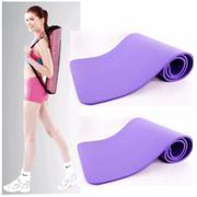 Thảm tập Yoga siêu bền loại dày 10mm TPE (Tím) có túi đựng