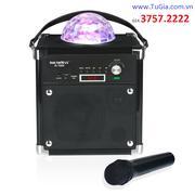 Loa di động SoundMax D1000 Bluetooth kèm Mic karaoke & đèn LED lung linh sắc màu