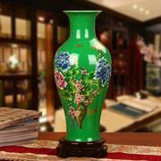 Bình hoa gốm sứ Cảnh Đức - Giang Tây, men xanh lá tuyệt đẹp, họa tiết hoa sen, cá chép, MS xzgh007-G...