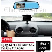 Camera hành trình xe hơi tích hợp gương + camera lùi DVR + Tặng thẻ nhớ Micro SD 32GB