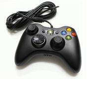 Tay cầm chơi game Microsoft Xbox 360 có dây (màu đen)- Hàng nhập khẩu