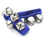 Pair of Metal Jingle Bells Bracelet Wrist Tambourine Nylon Fastener Tape Percussion Musical Toy for ...