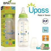 Bình sữa UPASS cổ thường 240ml nhựa PP (Xanh)