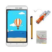 Bộ 1 Mobiistar LAI Z1 8GB 2 Sim (Trắng) + Bút cảm ứng Stylus Touch 1 đầu Pen-x + Sim Viettel + Gậy c...