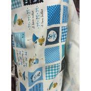 Vải thô Hàn hình bé màu xanh