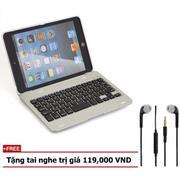 Bàn phím kiêm ốp lưng iPad mini 4 Case Keyboard Tặng tai nghe