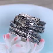 Nhẫn bạc Nam đại bàng Hadosa size mở Hadosa