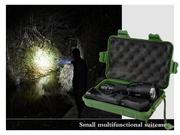 800 Meter 1000 Lumen Tactical Cree C8 Q5 LED 3-Mode Police Flashlight Torch Lamp with box and two ch...