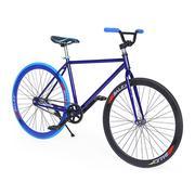 Xe đạp Fixed Gear Single Cổ Chữ A New 2017 màu Xanh SportSlink FIXEDGEAR-17-XANH