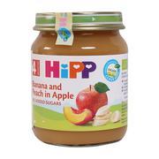 Dinh dưỡng đóng lọ Hipp chuối, đào, táo (Trên 4 tháng)
