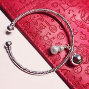 Lắc tay tròn bạc 925 Pinky Accessories LPT1