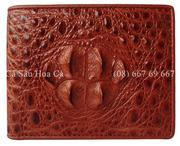 Bóp nam cá sấu Hoa Cà đầu gù - 1066