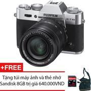 Fujifilm X-T10 16.3MP với Lens kit XF 18-55mm F2.8-4 R LM OIS (Bạc) + Tặng 1 túi máy ảnh và 1 thẻ nh...