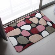 Bộ 2 thảm lau chân cao cấp Hàn Quốc họa tiết đá sỏi ( màu đậm)