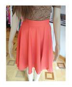 Chân váy vintage màu cam