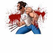 Ảnh decal bóc dán Logan Wolverine ( 297mm x 210mm )