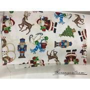 Vải thô họa tiết Giáng Sinh