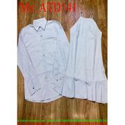 Sét đồ đôi áo sơ mi và đầm suông cổ yếm trẻ trung ATD141 -  ATD141nẻeee