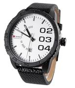 Đồng hồ nam Curren Chronometer 8125 dây da - Đen