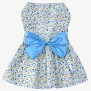Sweet Flower Style Pet Dog Skirt Dress Clothes Costume Apparel with Large Bowknot Oranment for Daily...