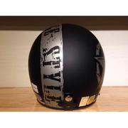 Mũ bảo hiểm Andes 111C Vintage đen nhám