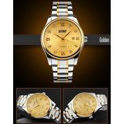 Đồng hồ nam dây thép không gỉ SKMEI 9101 (Vàng)