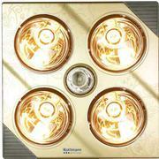 Đèn sưởi nhà tắm Kottmann 4 bóng vàng treo tường K4B-G