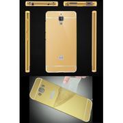 Ốp lưng tráng gương viền kim loại cho Xiaomi Mi4 (Vàng)
