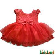 Đầm voan đỏ bé gái AD121