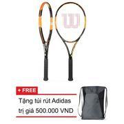 Vợt Tennis Wilson Burn 100 LS + Tặng túi rút thể thao Adidas siêu nhẹ