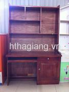 Giá sách gỗ xoan 1m