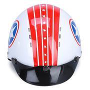Mũ Bảo Hiểm 1/2 Đầu Protec Arizona Không Kính ALWF Họa Tiết Ngôi Sao - Đỏ Phối Trắng (Size L)
