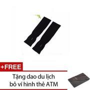 Gang tay đi phượt + Tặng 1 dao du lịch bỏ ví hình thẻ ATM (Xám)