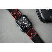 Dây đồng hồ da thật Handmade cho Apple Watch ( 38mm và 42mm ) – Mẫu DC14-D123-chỉ đỏ