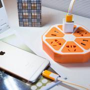 Ổ cắm điện đa năng thông minh - tích hợp cổng USB (Hồng) (Hồng)