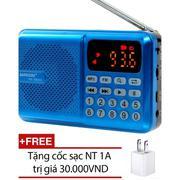 Máy nghe nhạc đa năng USB, thẻ nhớ, đài FM Bannixing D-69E + Tặng cốc sạc
