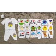 Bộ áo tay dài quần dài bo cho bé (3-36 tháng)