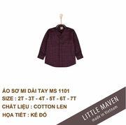 Little Maven-Áo sơ mi dạ kẻ đỏ 04T