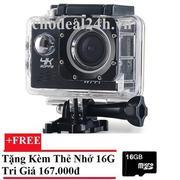 Camera hành động Waterproof ACTION CAMERA WIFI MultiPurpose 4K PLUS ULTRA HD (Đen)++ Tặng Thẻ Nhớ 16...