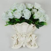 Bình hoa treo tường họa tiết hai thiên sứ 22,5 x 11,2 x 20,5 cm