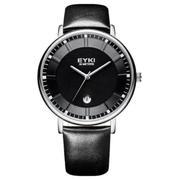 Đồng hồ nam dây da Eyki E046 (Đen)