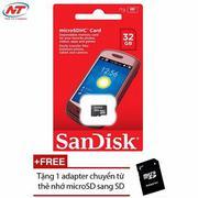 Thẻ nhớ MicroSDHC Sandisk 32GB Class 4 + Tặng 01 adapter microSD
