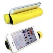 Loa di động 3 in 1 kiêm sạc dự phòng và giá đỡ điện thoại HT-01 (Vàng) (Vàng)