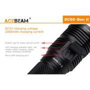 Đèn pin ACEBEAM EC50 bóng LED CREE XHP70 độ sáng 3000 lumen ánh sáng rộng (Đen)