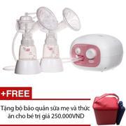 Máy hút sữa điện đôi Hàn Quốc BPA free Unimom Forte ( có massage silicone ) + Tặng bộ bảo quản sữa m...
