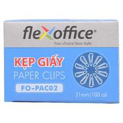 Kẹp giấy 31mm FO-PAC02 FlexOffice