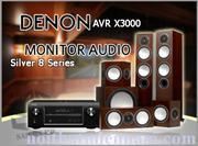 DENON AVR-X3000 - MONITOR AUDIO SILVER 8 Series
